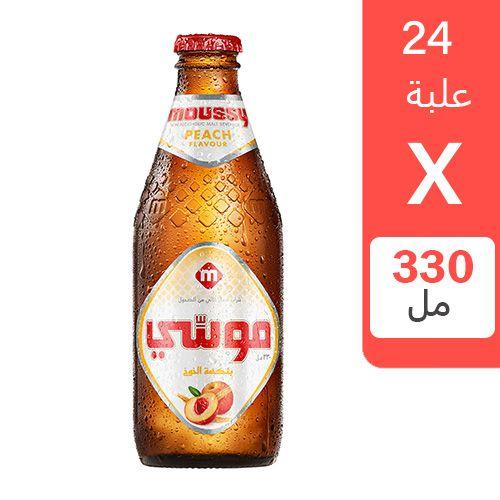 شراب شعير موسي بنكهة الخوخ 330 مل 24 زجاجة