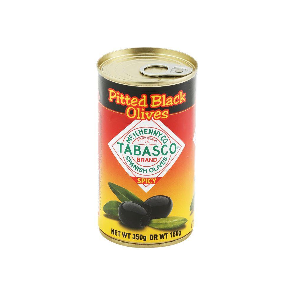 تباسكو زيتون أسود خالي من النواة ٣٥٠ غرام  ١٢ حبة