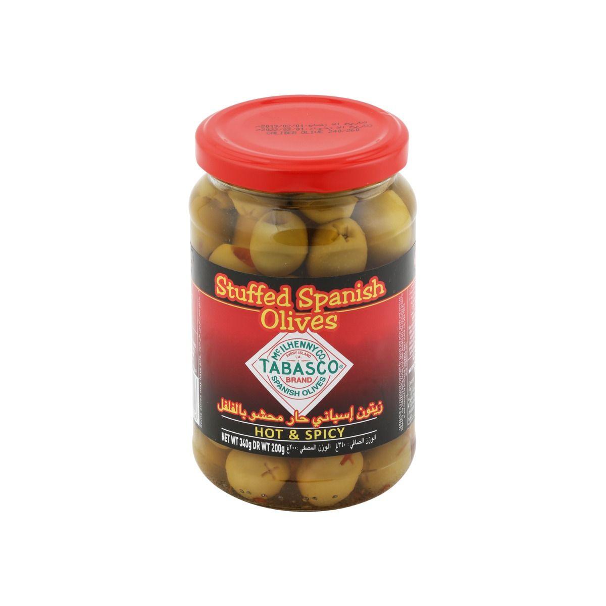 تباسكو زيتون أخضر بالفلفل الأحمر ٣٤٠ غرام - ١٢ حبة
