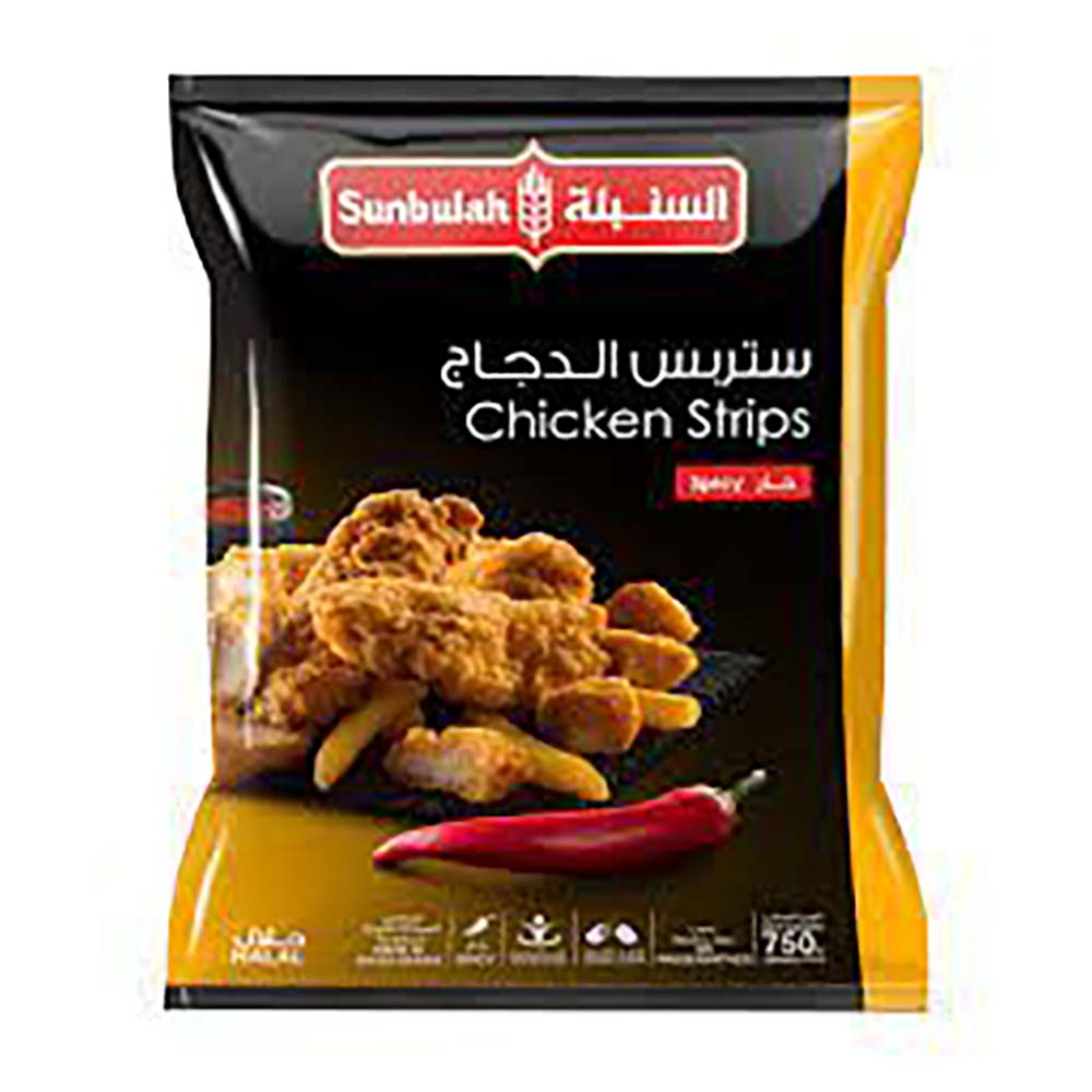 السنبلة ستربس الدجاج حار بالبقسماط ٧٥٠ جرام للكيس - ١٠ أكياس