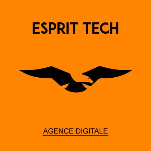 Esprit Tech Logo with orange background