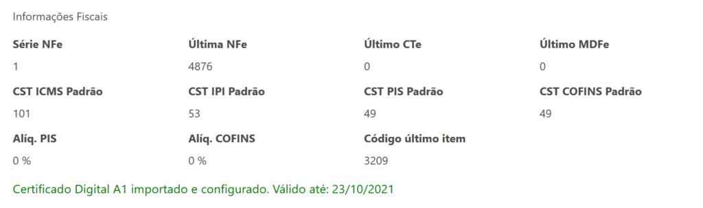 info certificado