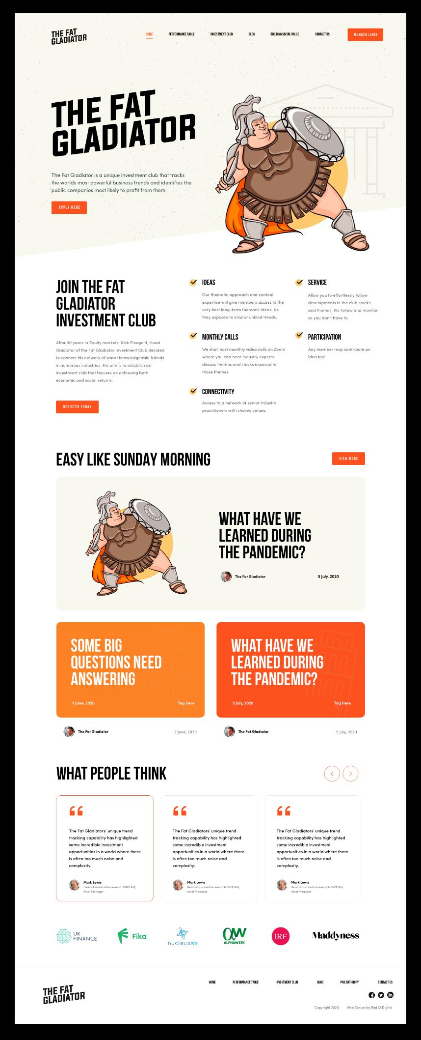 Brand Development & Web Design For The Fat Gladiator