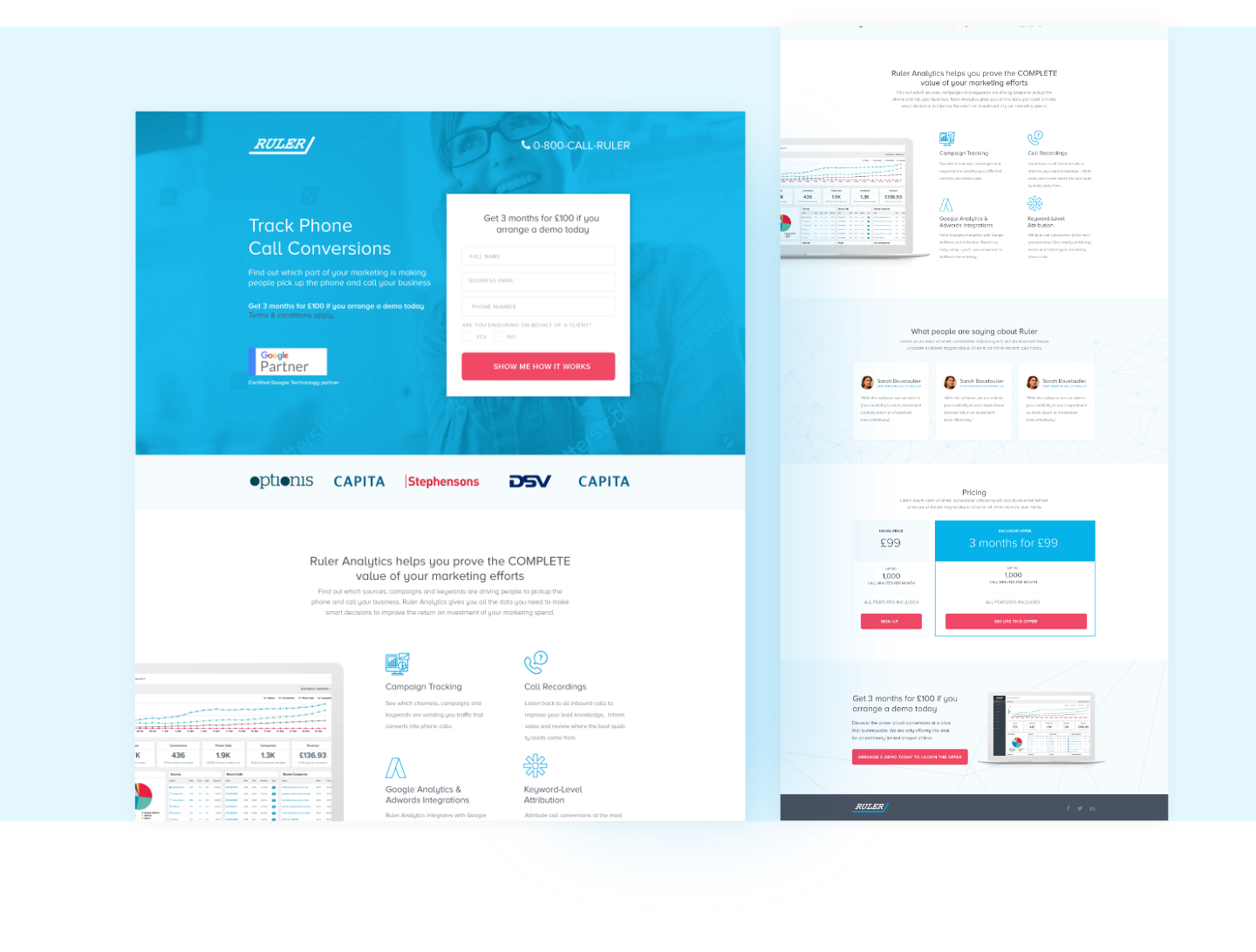 Brand Development & Web Design For Ruler Analytics