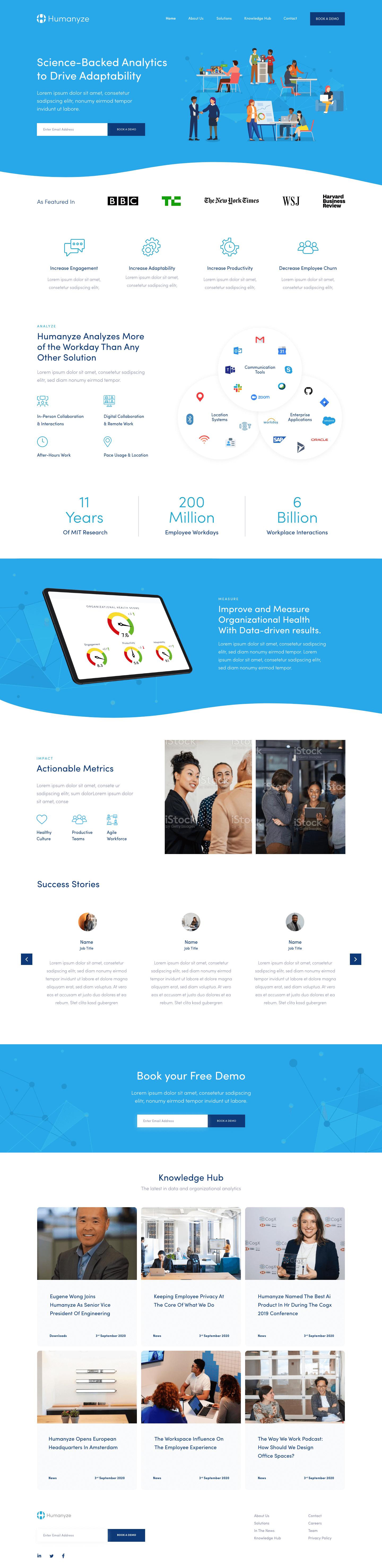 Web Design for Humanyze
