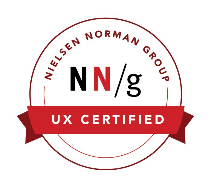 certificate for Neilsen-Norman group UX training