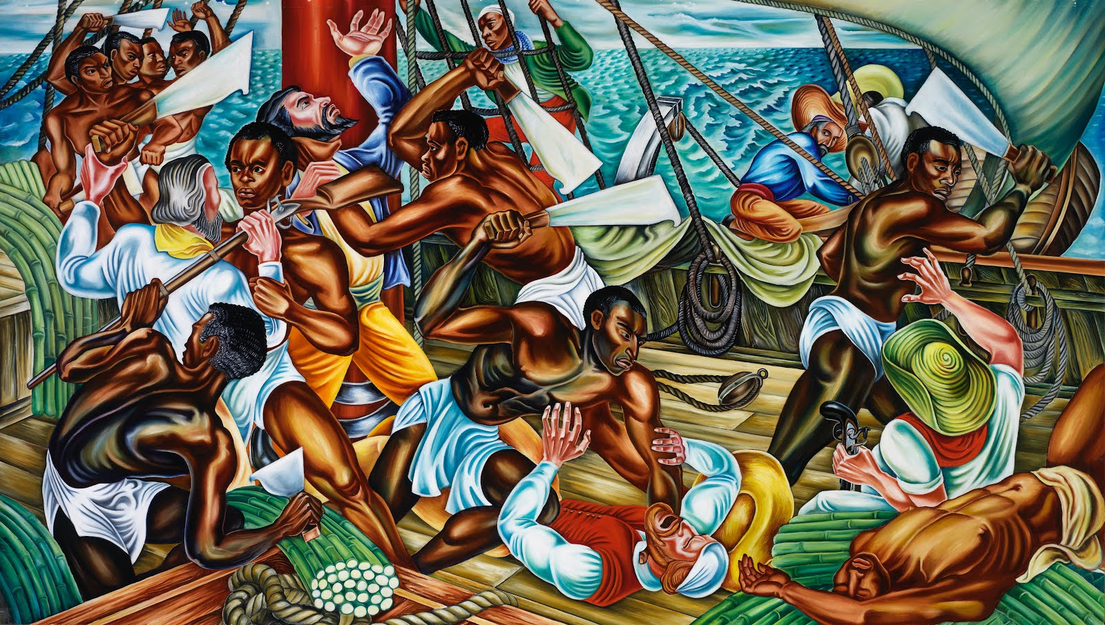 Mutiny on the Amistad by Hale Woodruff, 1938.