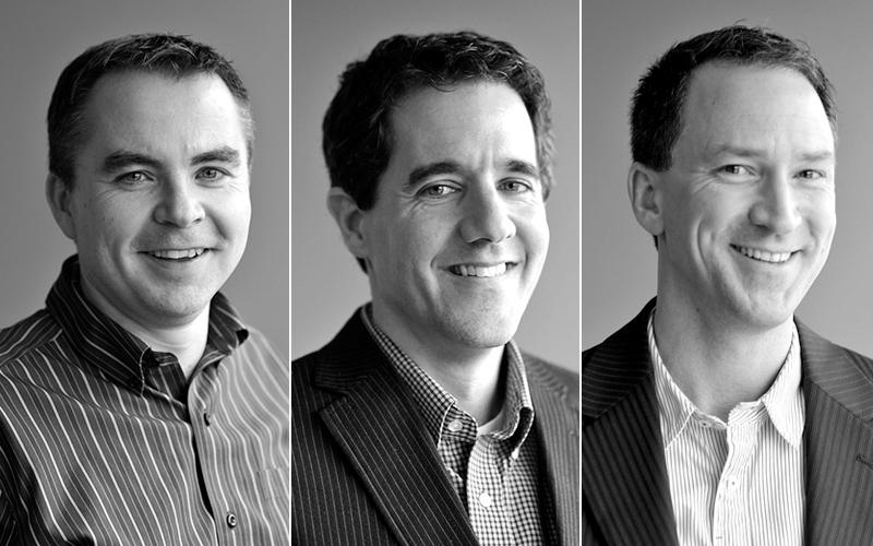 Radian6 and Potential Motors founders Chris Newton, Marcel Lebrun, and Chris Ramsey
