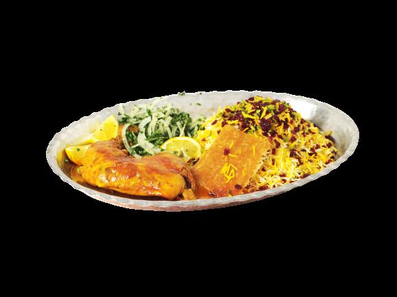 Zereshk Polo with Chicken