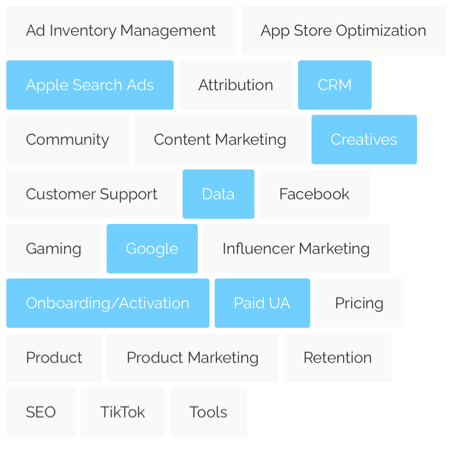 mobile marketing categories