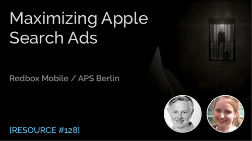 Maximizing Apple Search Ads