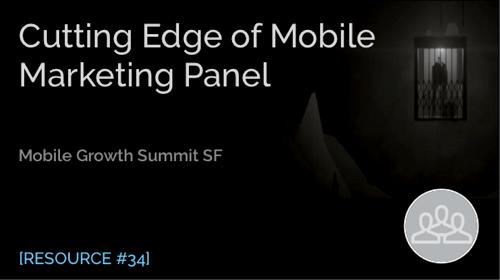 Cutting Edge of Mobile Marketing Panel