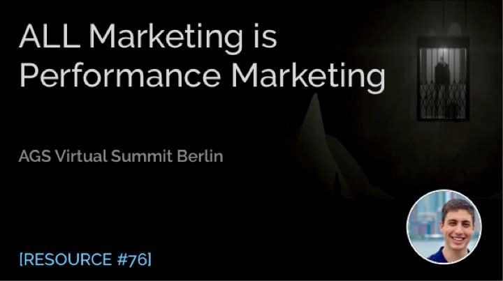 All Marketing Is Performance Marketing