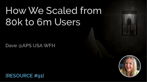 How We Scaled from 80k to 6m Users