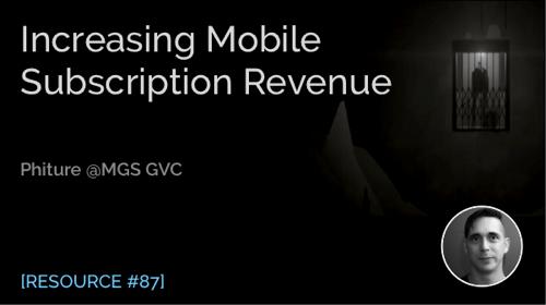 Increasing Mobile Subscription Revenue