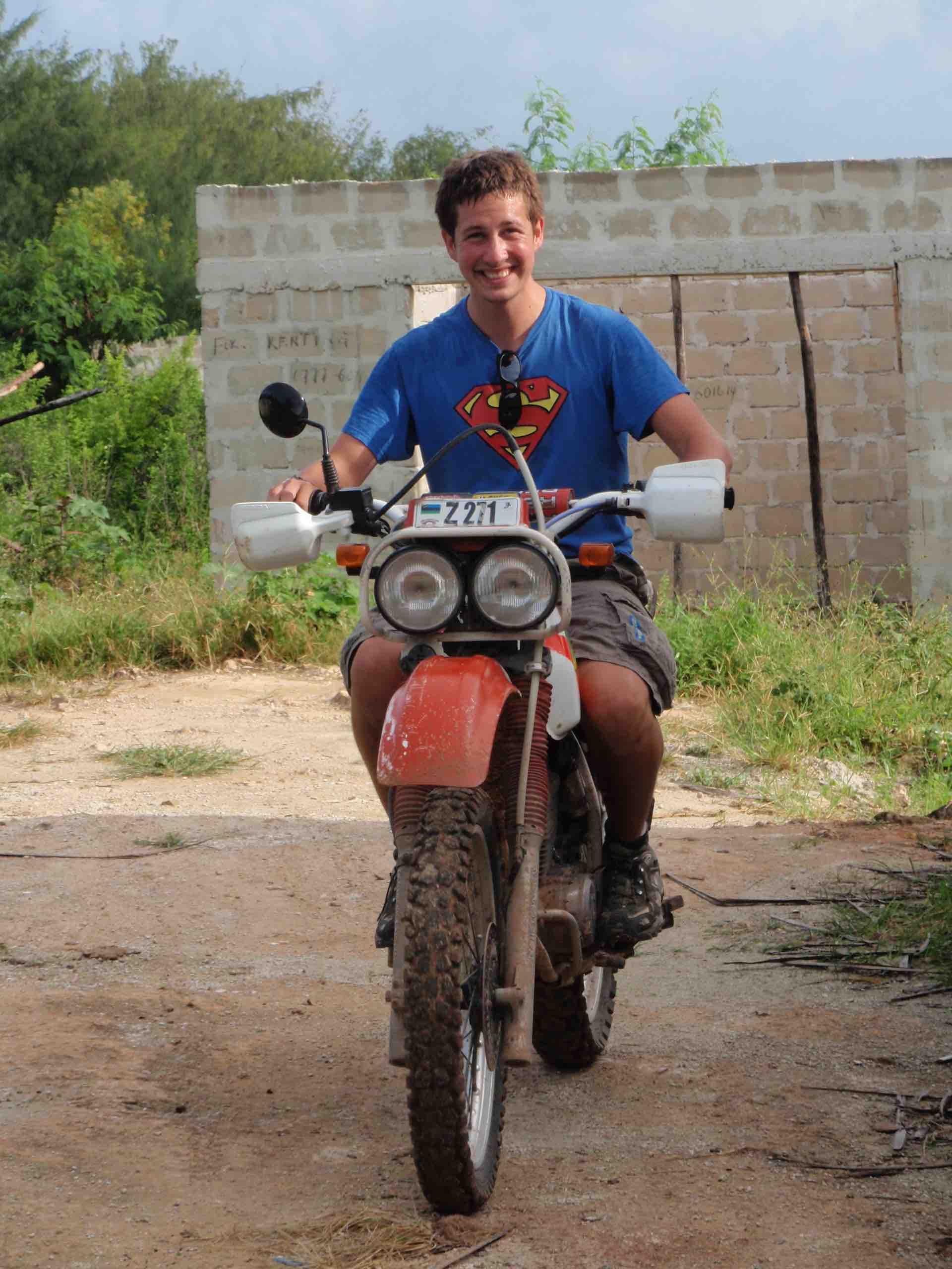 Bryan Clarke First Motorbike Ride Zanzibar 3