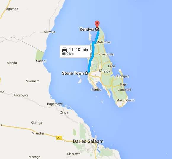 Zanzibar Zoom Google Maps