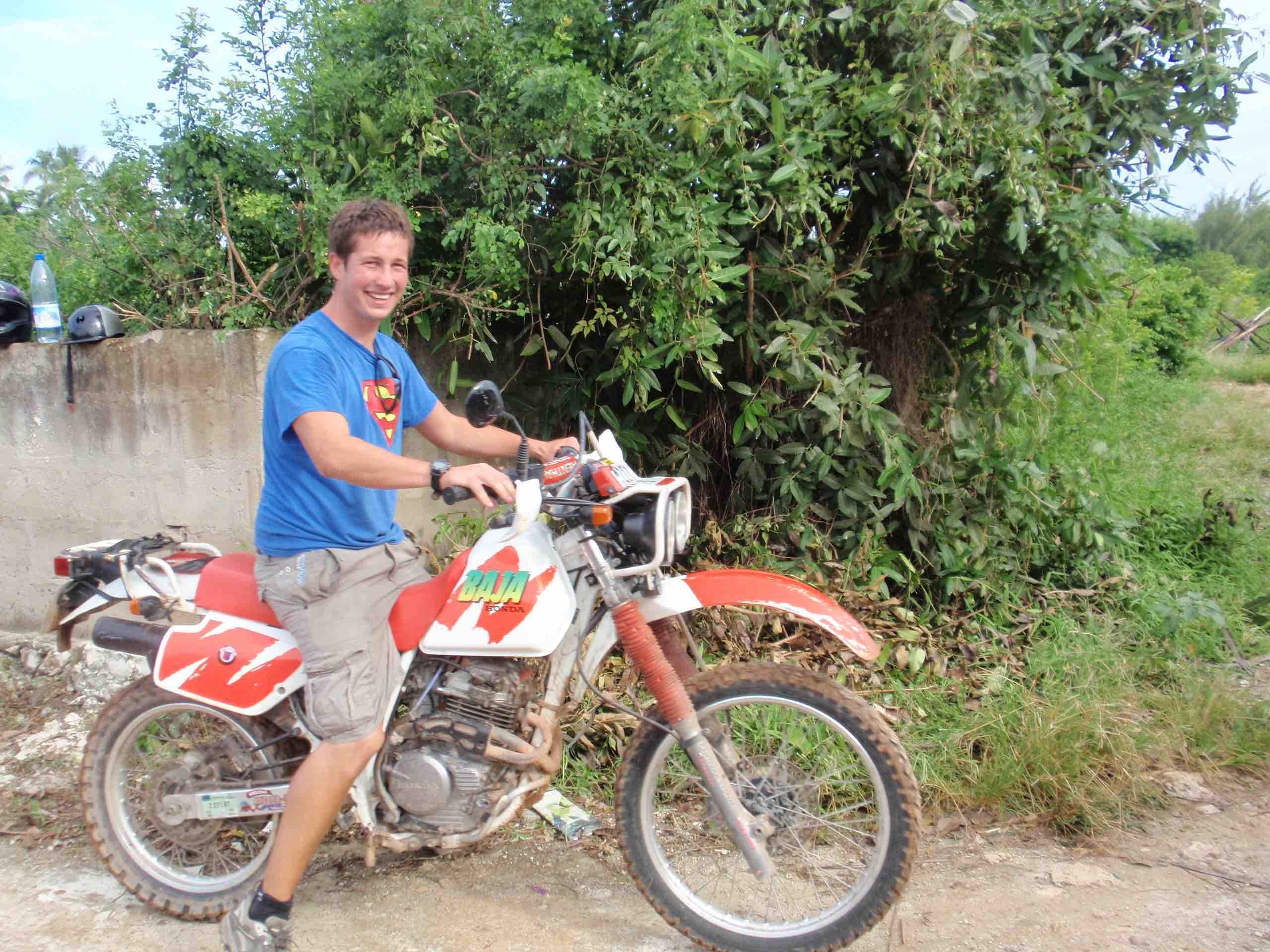 Bryan Clarke First Motorbike Ride Zanzibar 2