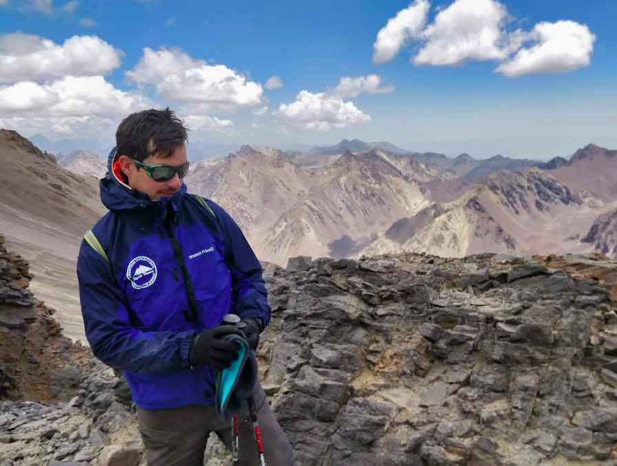 On the Way to Camp 2 Aconcagua - Bryan