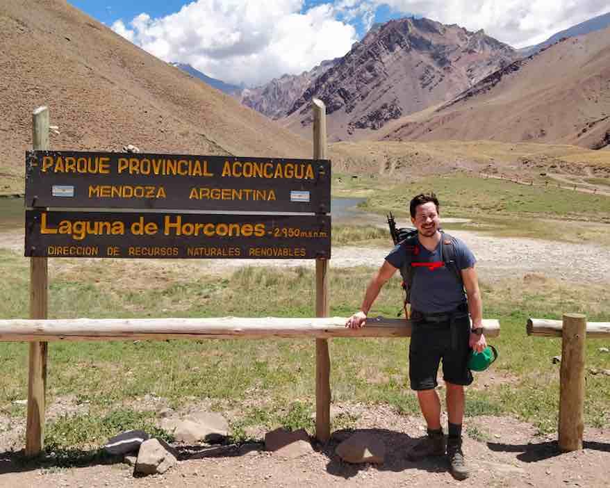 Entering Aconcagua National Park - Bryan
