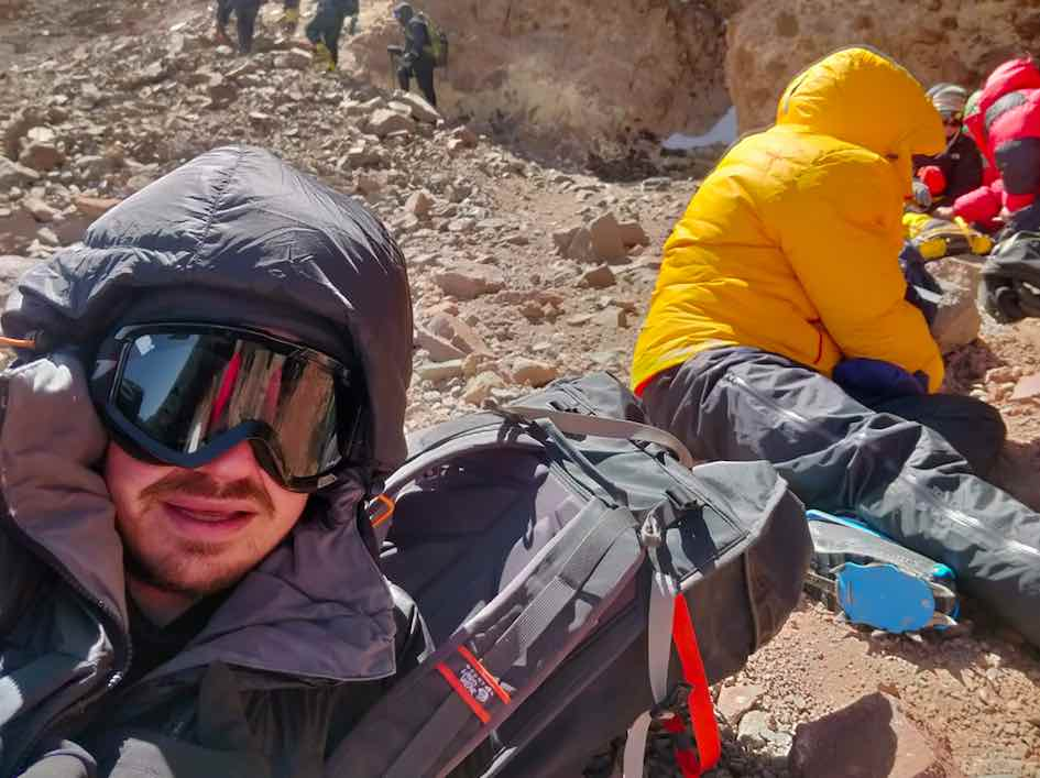 Before Final Summit Push - Caves Aconcagua
