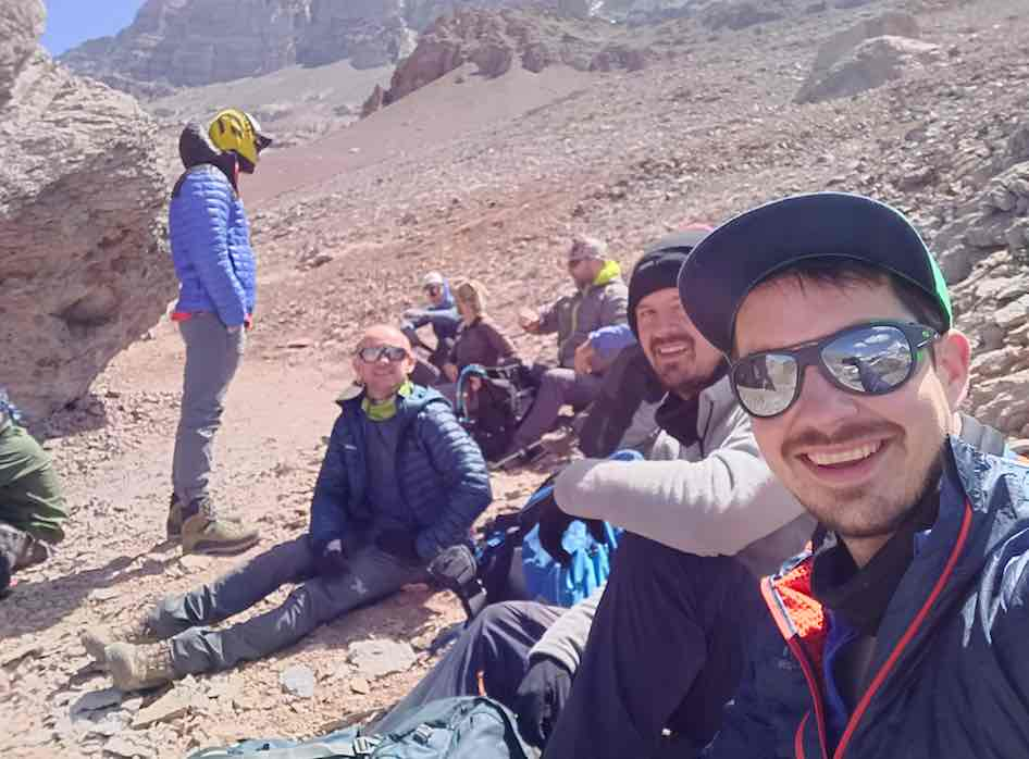 Aconcagua Team - On the way to Camp 2 - Bryan