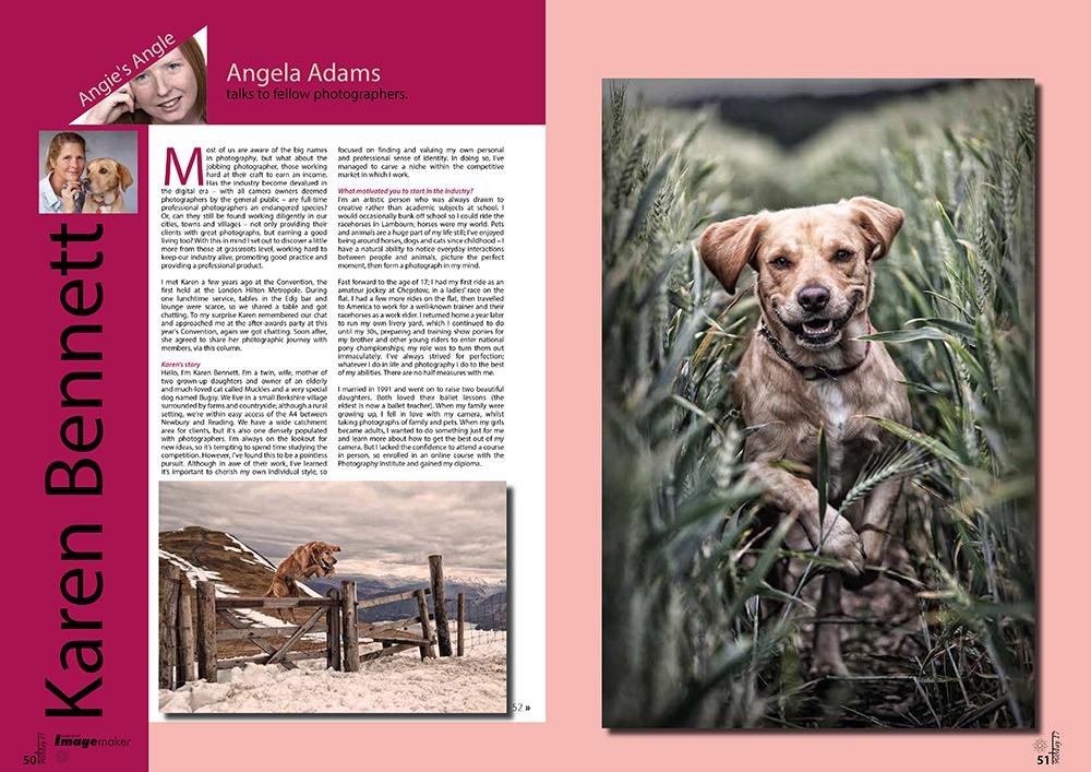 Norfolk Photographer - Angela Adams - Features Writer - Professional Imagemaker - Ross Grieve