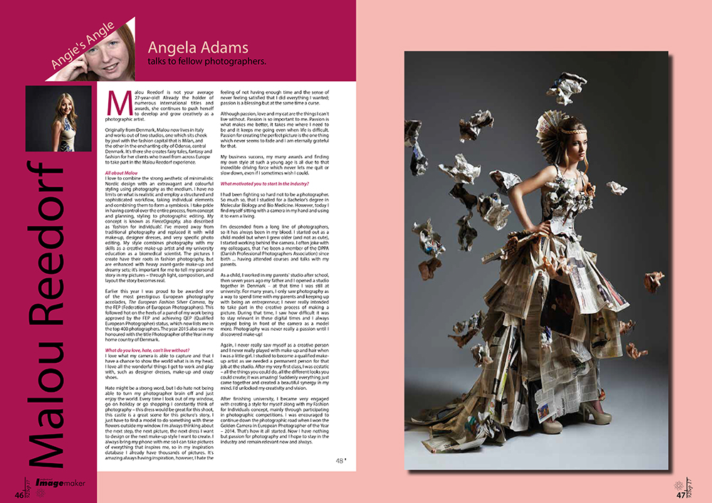 norfolk writer and photographer - tear sheets and copy - angela adams - malou reedorf