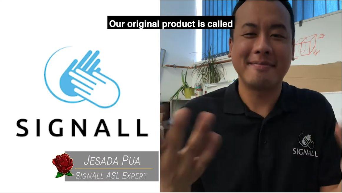 Melmira TV Program screenshot with Jesada Pua, Deaf rights activist, on it