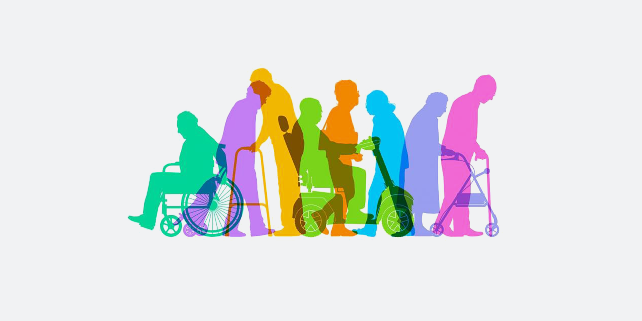 People with disabilities - art illustration. Photo credit - smartboy10/iStock