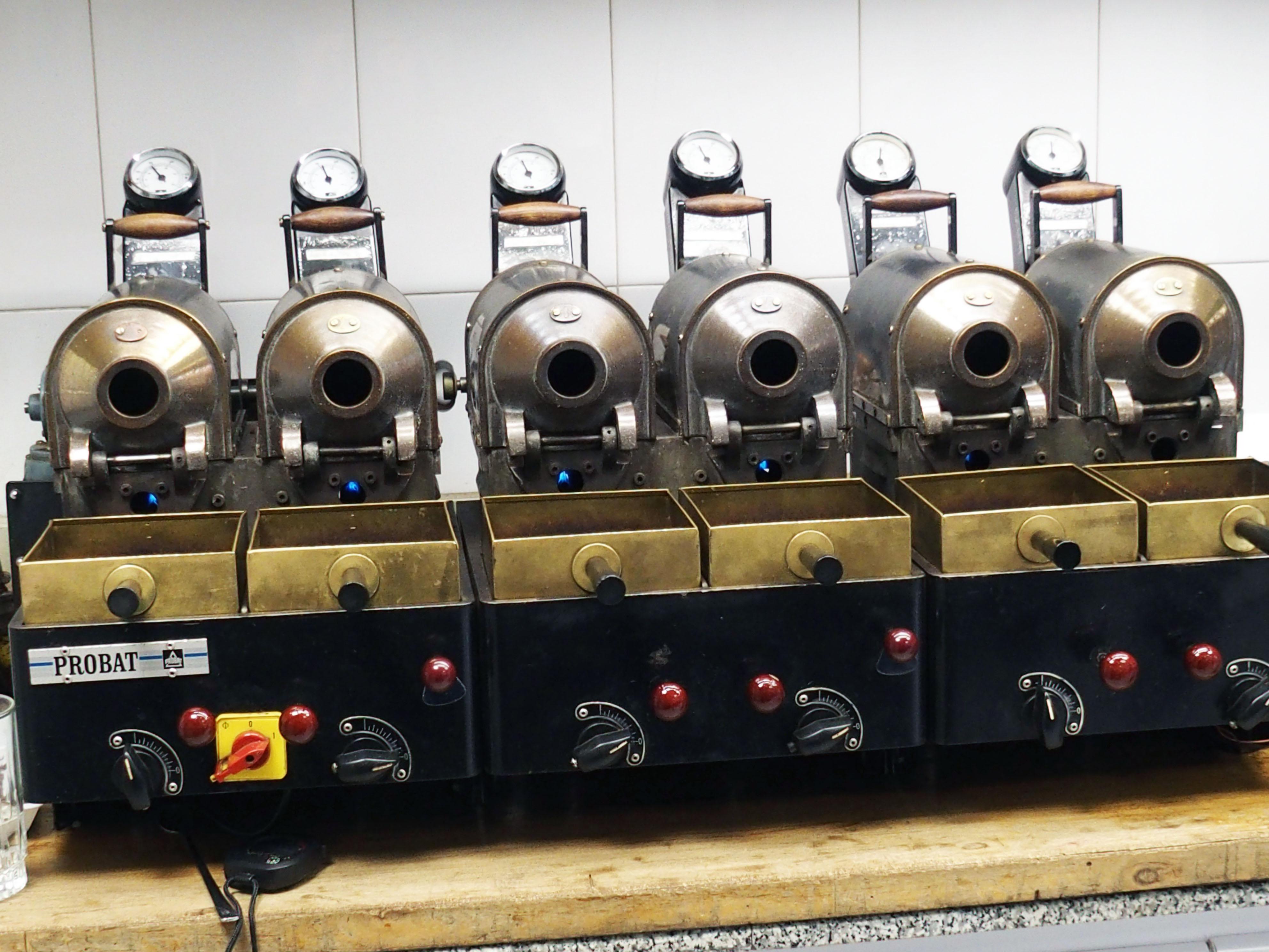 Batch coffee roasting