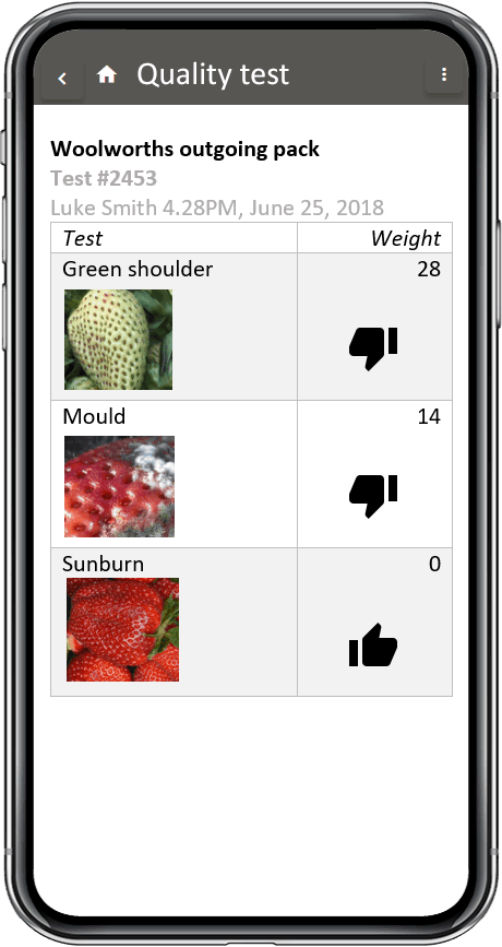 quality control fresh produce