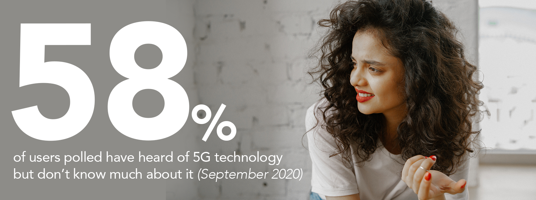 58% of users polled have heard of 5G technology but don't know much about it
