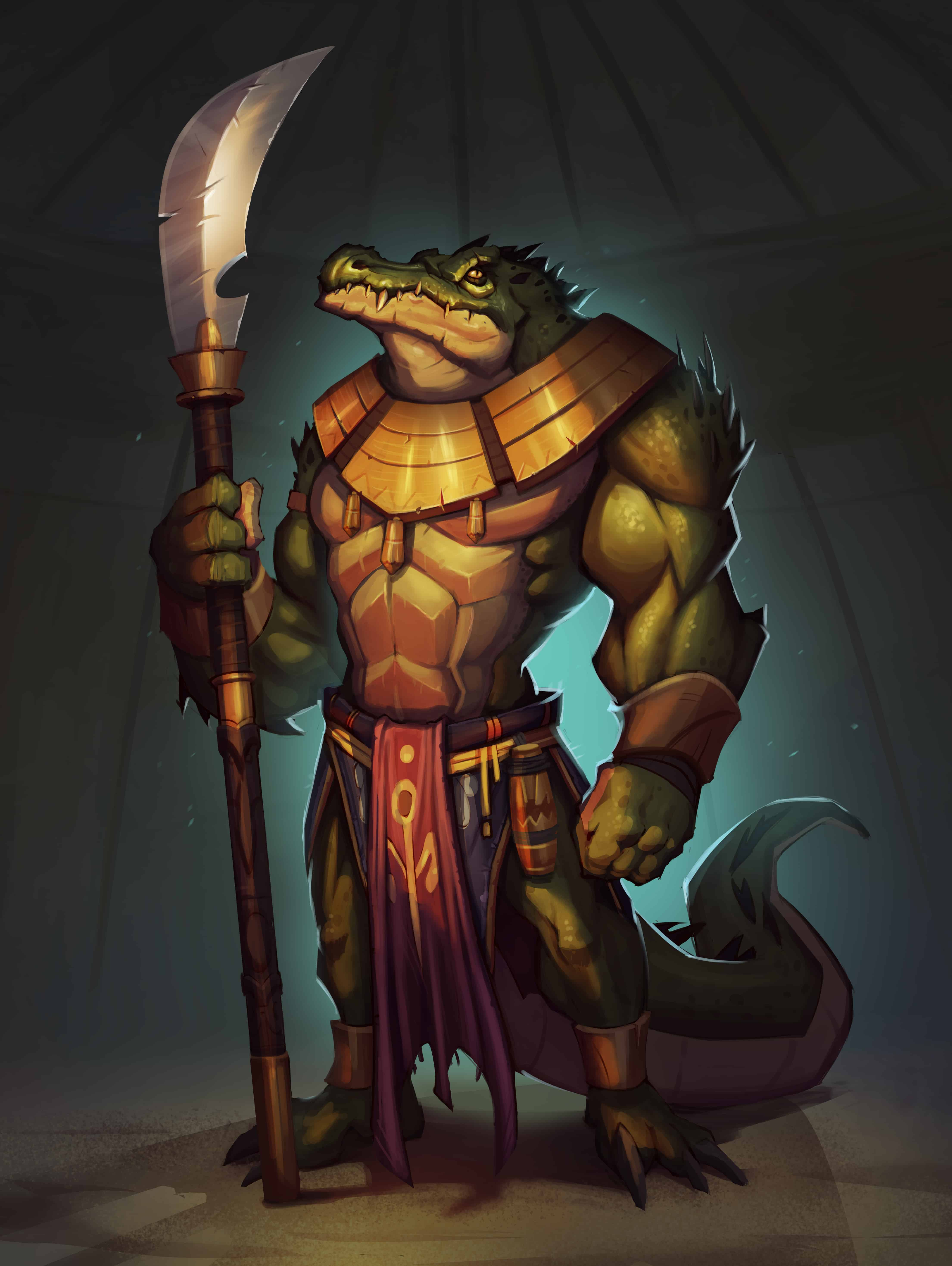 Toothblade Chosen crocodile card art from Untamed Feral Factions