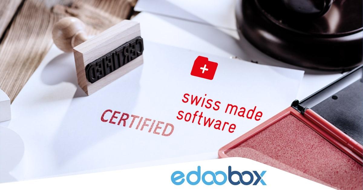Swiss Made Software Zertifizierung für edoobox