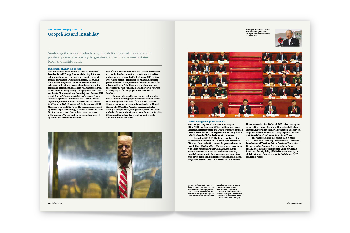 Chatham House annual report pages