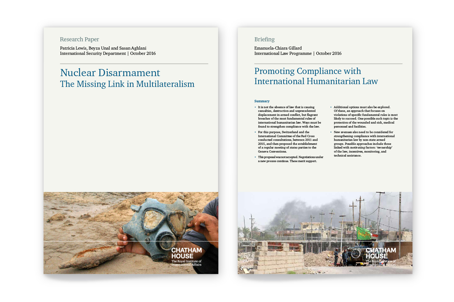 Chatham House publication covers