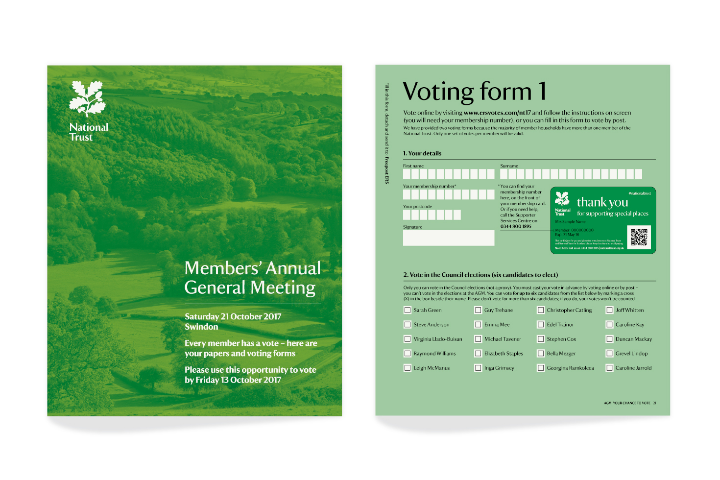 National Trust forms