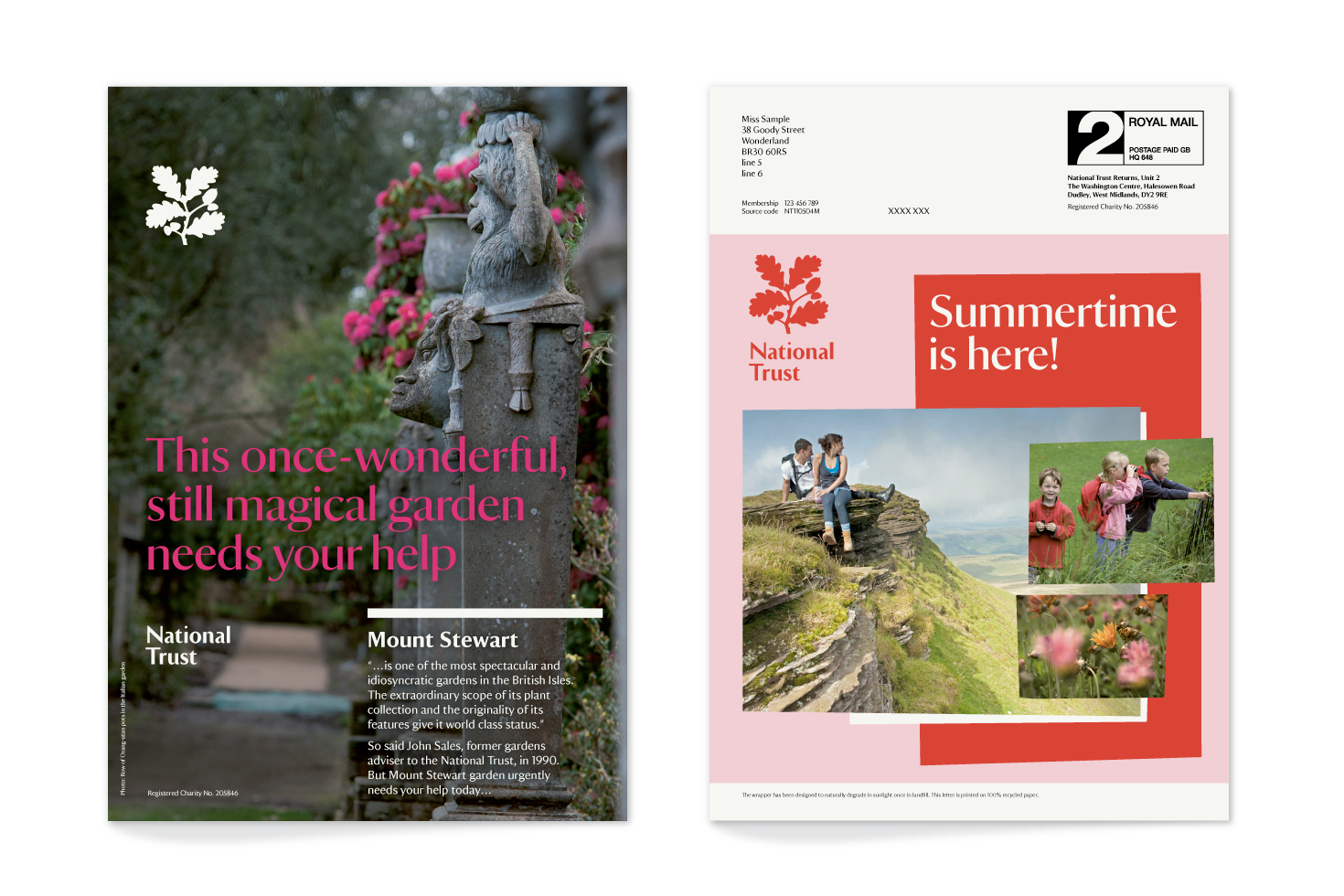 National Trust poster and mailing