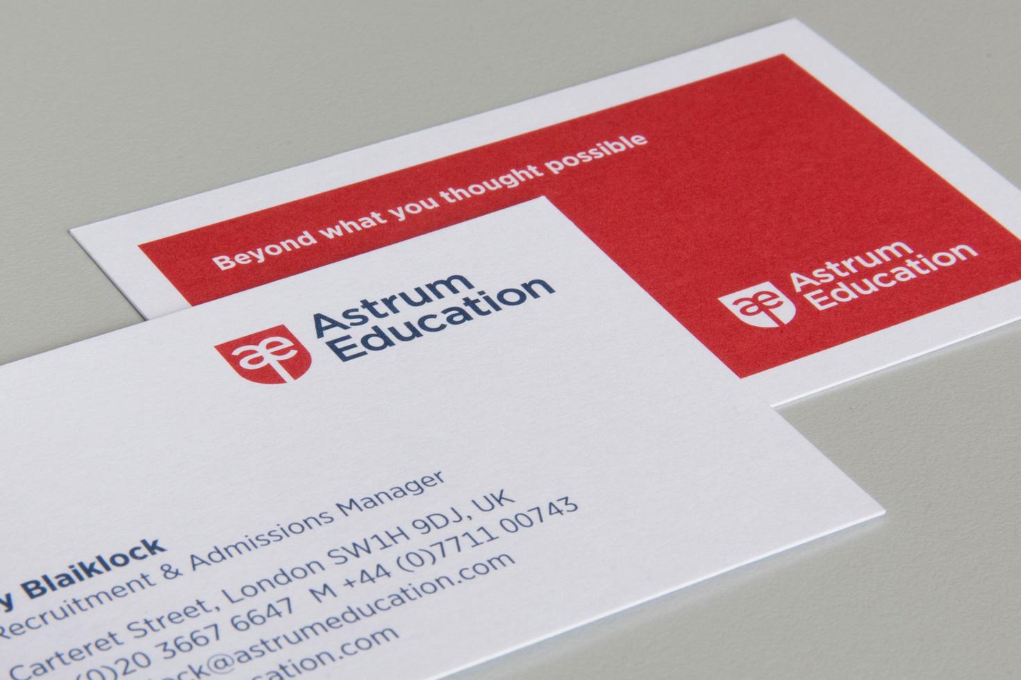 Astrum Education business card