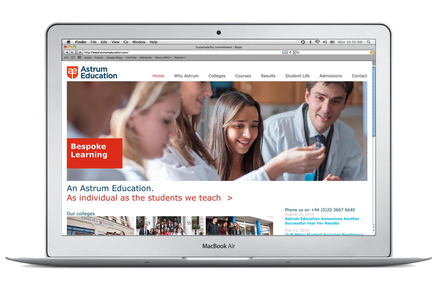 Astrum website