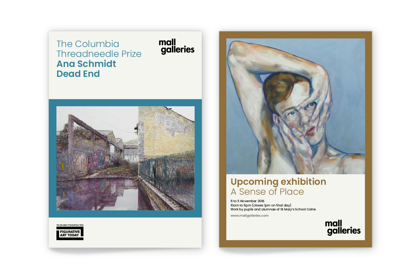 Mall Galleries poster and advert