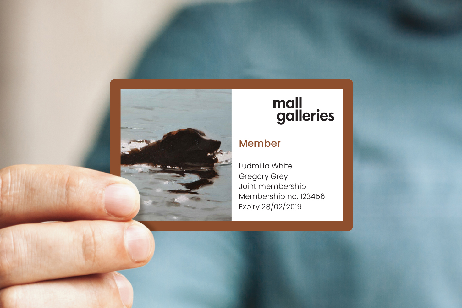 Mall Galleries business card