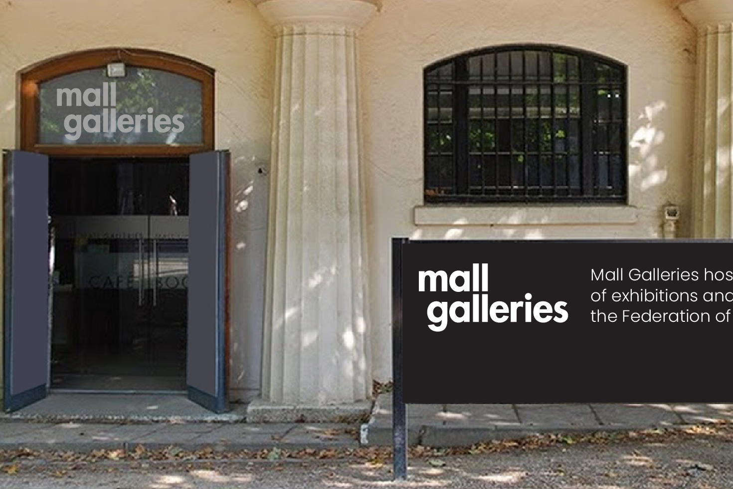 Mall Galleries signage