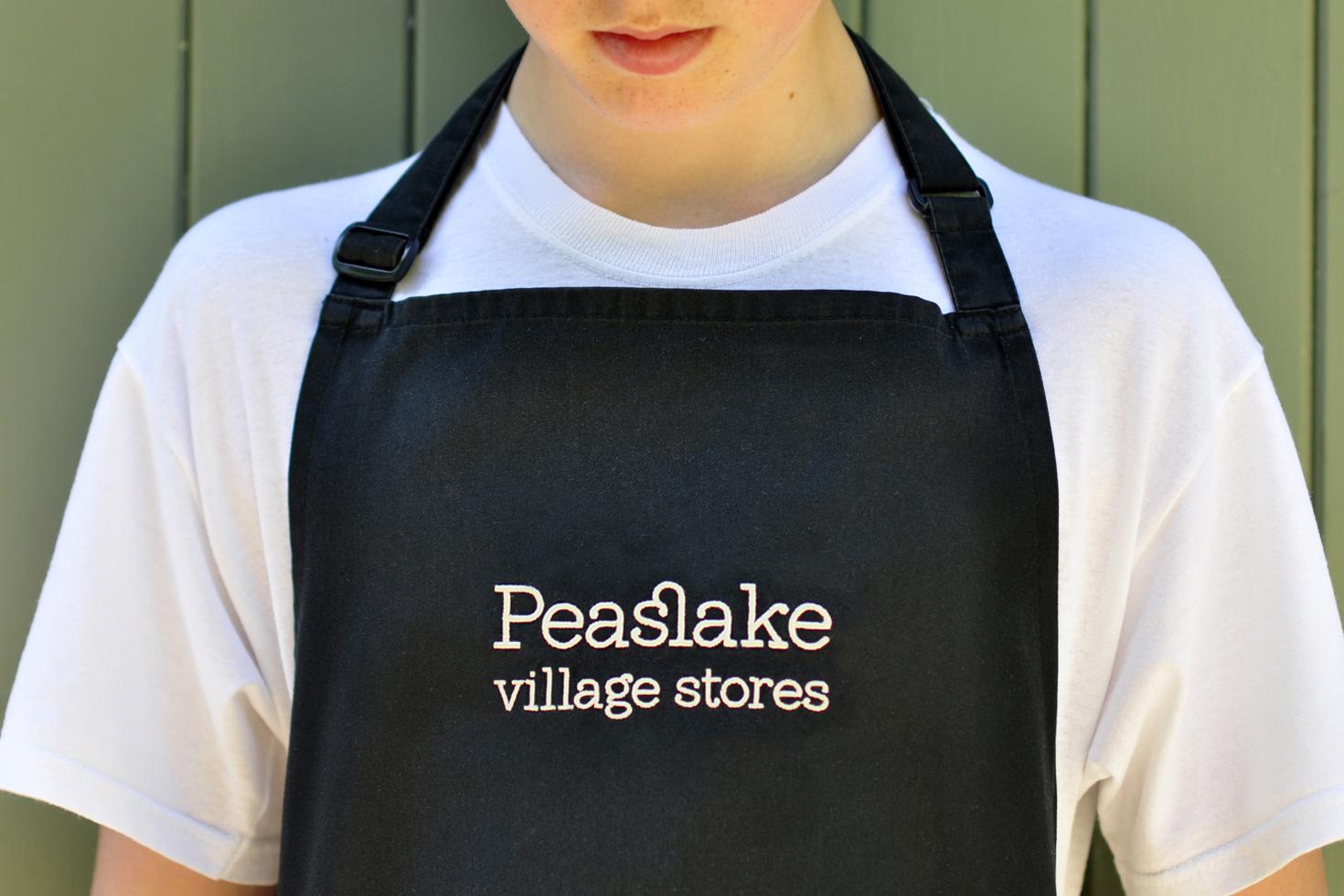 logo on apron