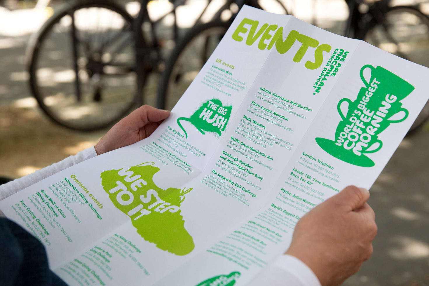 Macmillan Cancer Support events leaflet