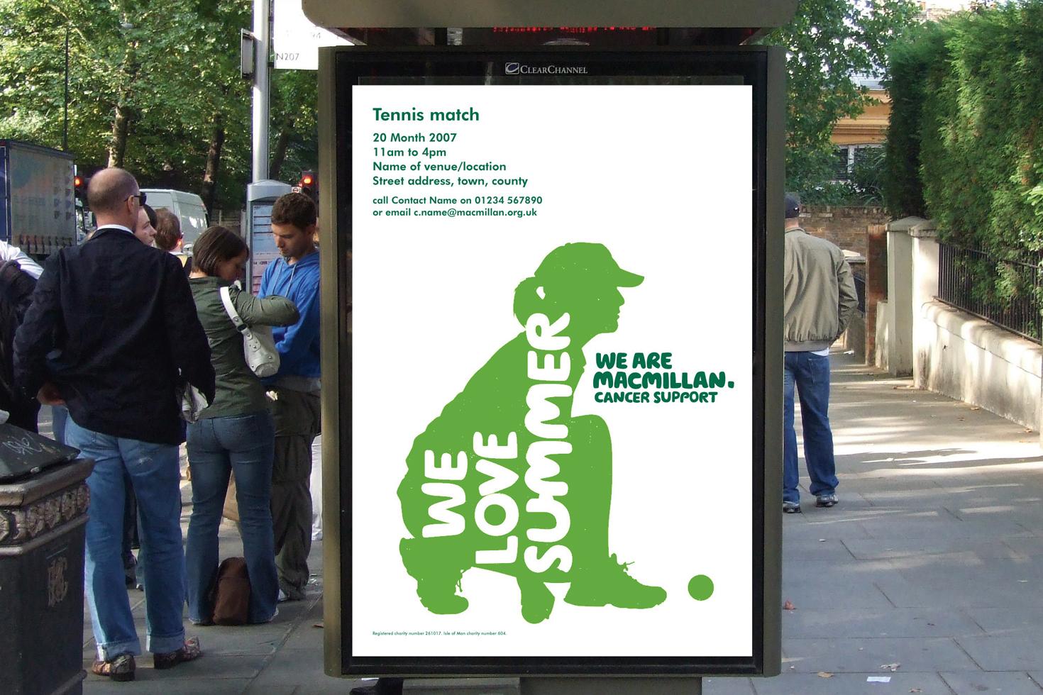Macmillan Cancer Support billboard