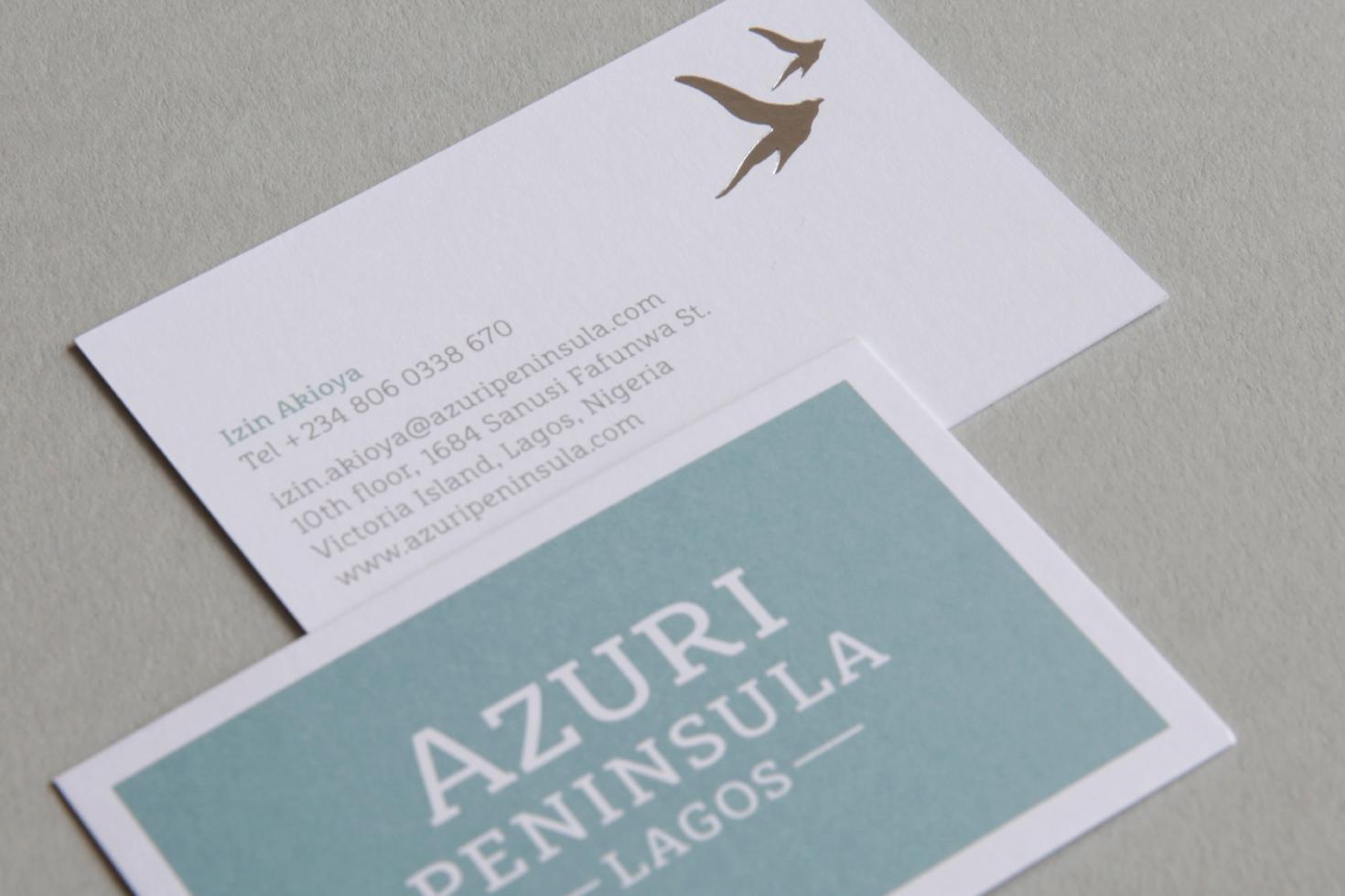 Azuri Peninsula business card