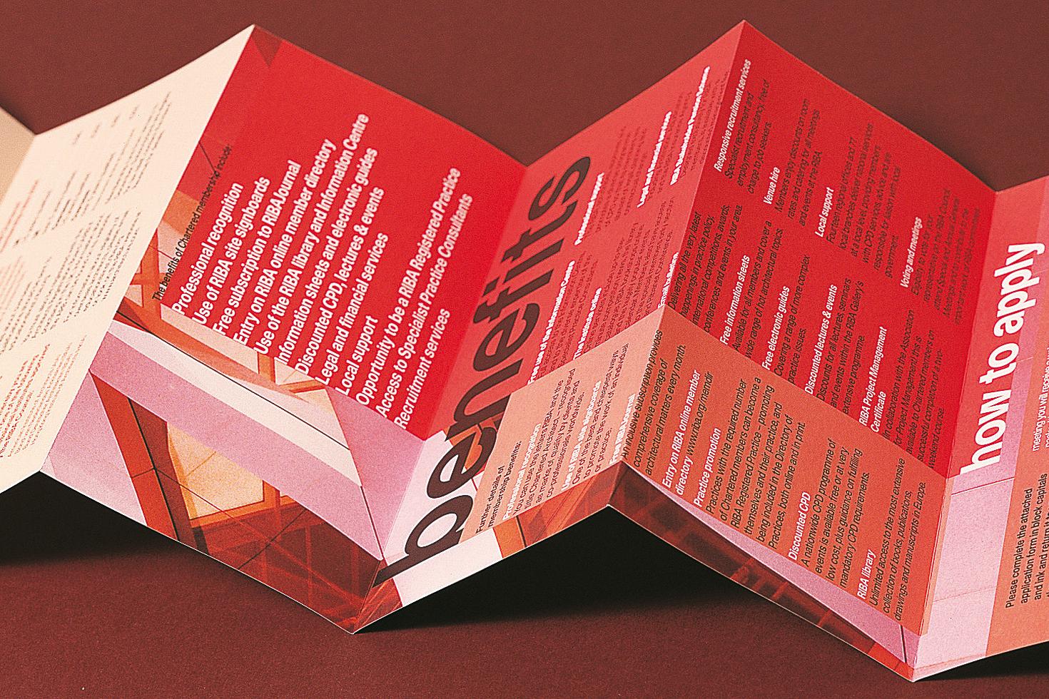 RIBA chartered membership leaflet