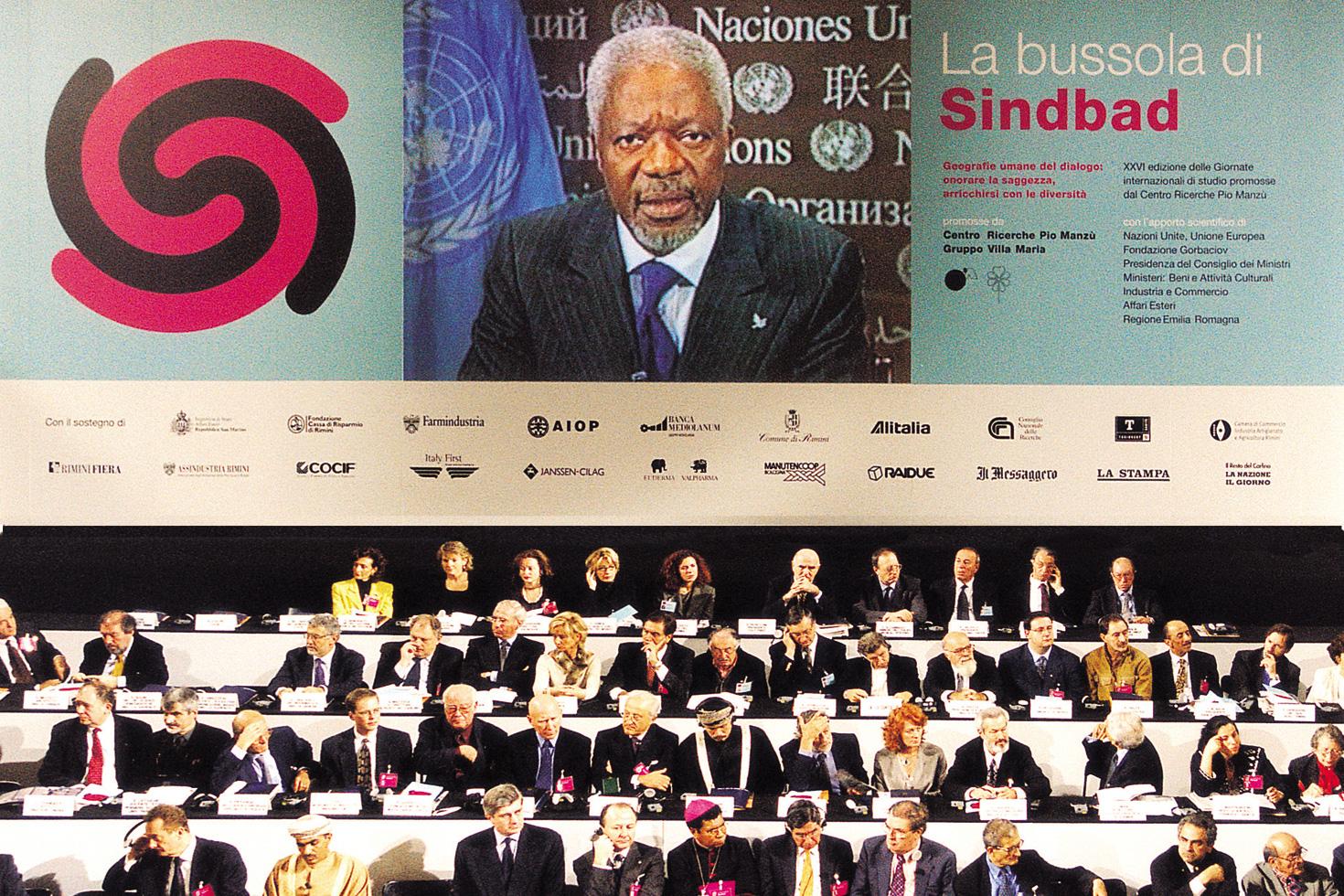 Kofi Annan speaking at conference